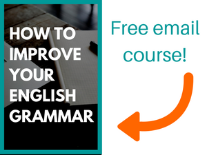 how to improve your grammar email course image